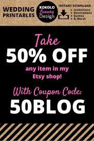 miriam kokolo etsy coupon code for wedding printables by kokolo