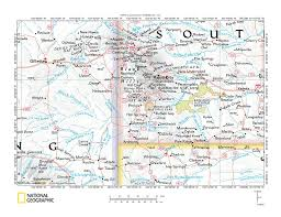 Wyoming Map Usa by Stockade Beaver Creek Red Canyon Creek Drainage Divide Area Black