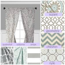 Lilac Nursery Curtains Powder Blue Gray Window Treatments Grey Curtain Panels Drapery
