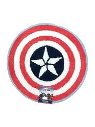 Red Bath Rug Amazon Com Marvel Captain America Tufted Cotton Bath Rug Red