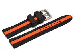 bracelet montre silicone images Bracelet montre silicone noir bande centrale orange png