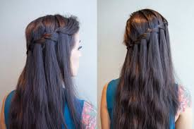 show pix of braid how to do a waterfall braid step by step instructions reader s digest
