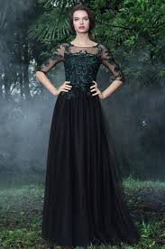 formal gowns edressit black formal gowns with green lace appliques 26171200