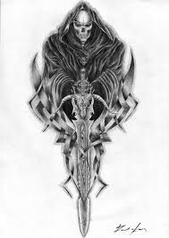 the grim reaper tattoo drawing photos pictures and sketches