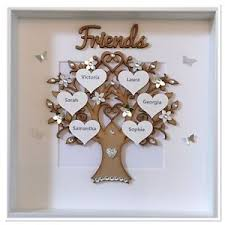 wedding gift photo frame personalised friends family tree box frame keepsake wedding gift