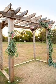 pergola design marvelous build your own wedding arbor greenery