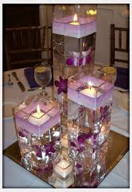 Purple Centerpieces Wodnerful Diy Unique Floating Candle Centerpiece With Flower