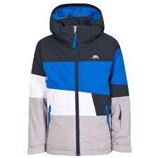 trespass sedley boys ski waterproof jacket winter insulated hooded