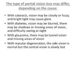 Night Blindness Information Simplified Information On Blindness
