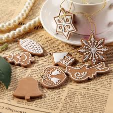 online shop funny 11 pcs cartoon animal snowflake biscuits hanging