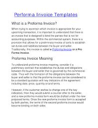 Proforma Invoice Template Proforma Invoice Templates Authorstream