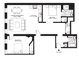luxury two bedroom apartment floor plans