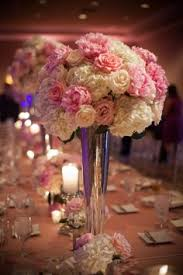 pink and blue centerpiece spring and summer weddings