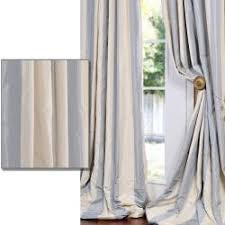 Blue And White Striped Drapes Blue And Tan Curtains Curtains Wall Decor