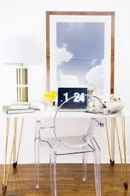 Diy Work Desk Diy Desk With Gold Hairpin Legs Hairpin Legs Desks And Office