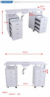 manicure table with vent nail tech table dimensions best table decoration