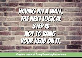 Brick Wall Meme - hitting a brick wall having hit a wall the next logicalstep isnot