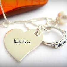 my name jewelry nick name heart necklace name picture jewelry name generator