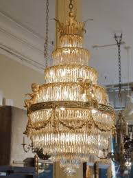 antique french baccarat crystal waterfall chandelier chandeliers