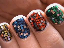 big glitter cute nail designs for short nails youtube