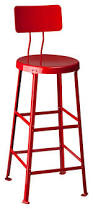 Red Bar Stools With Backs Commercial Grade Bar Stool One Ton Stool With Back Crow Works
