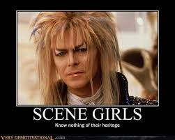 David Bowie Labyrinth Meme - scene girls very demotivational demotivational posters very
