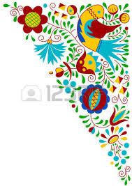 moravian folk bird ornament south moravia republic royalty