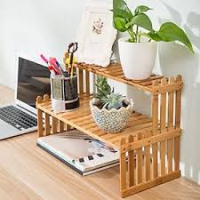 Bamboo Table Top by 2 Tier Bamboo Plant Stand Tabletop Shelf Desk Rack Display Shelves