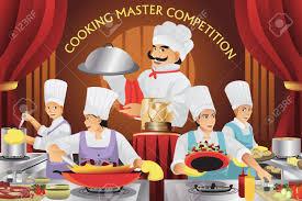 concours de cuisine une illustration de vecteur d maître concours de cuisine clip