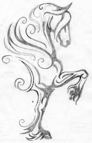 my latest horse logo design here is the rough pencil drawing the