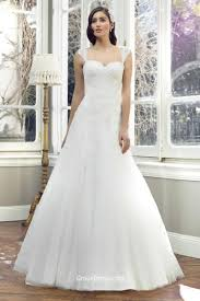 stunning cap sleeves backless long a line lace wedding dress