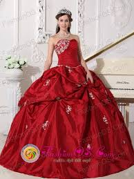 summer wine red elegant quinceanera dress clearance with