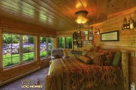 golden eagle log homes log home cabin pictures photos ponderosa lower level bedroom 2 view 2