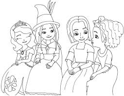 sofia the first coloring pages the little witch sofia the first