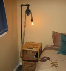 rustic pallet nightstand with lamp 6 steps with pictures