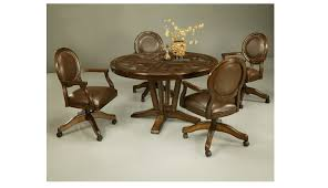 Dining Room Excellent Poster Within Chairs With Casters - Dining room chairs with rollers