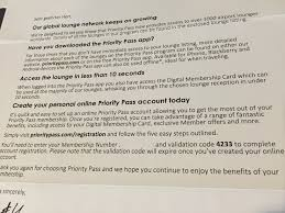 priority pass holders should check their mail for membership