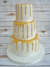Gold Drip Christening Cake Wedding Cake Celebration Cakes