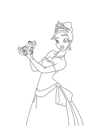 disney the princess tiana and the frog coloring pages womanmate com