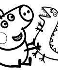peppa pig coloring pages kids free printable