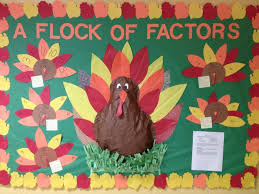 thanksgiving multiplication turkey with paint strips students