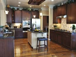 dark kitchen cabinets with light floors kitchen decoration