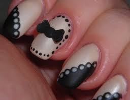 beige and black nail design elegant black u0026beige nail design