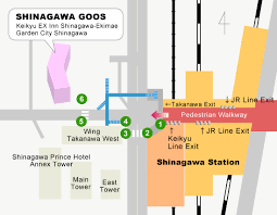 shinagawa station map from shinagawa station to venue access the 7th international