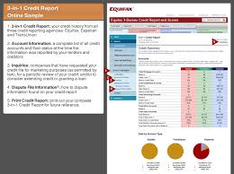 equifax 3 bureau credit report and scores tour