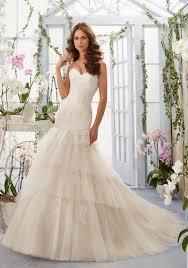 blu wedding dresses morilee