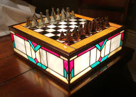 beautiful chess sets a beautiful chess set made entirely from stained glass geekologie