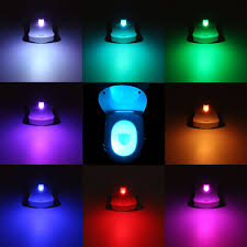Led Night Light Bulb by 8 Colors Intelligent Closestool Induction Sense Led Night Light