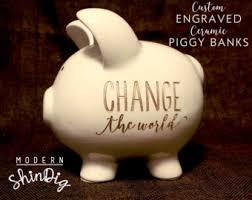 engraved piggy bank engraved piggy bank etsy