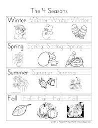 Kindergarten Weather Worksheets Seasons Kinder Worksheet Search Lugares Para Visitar